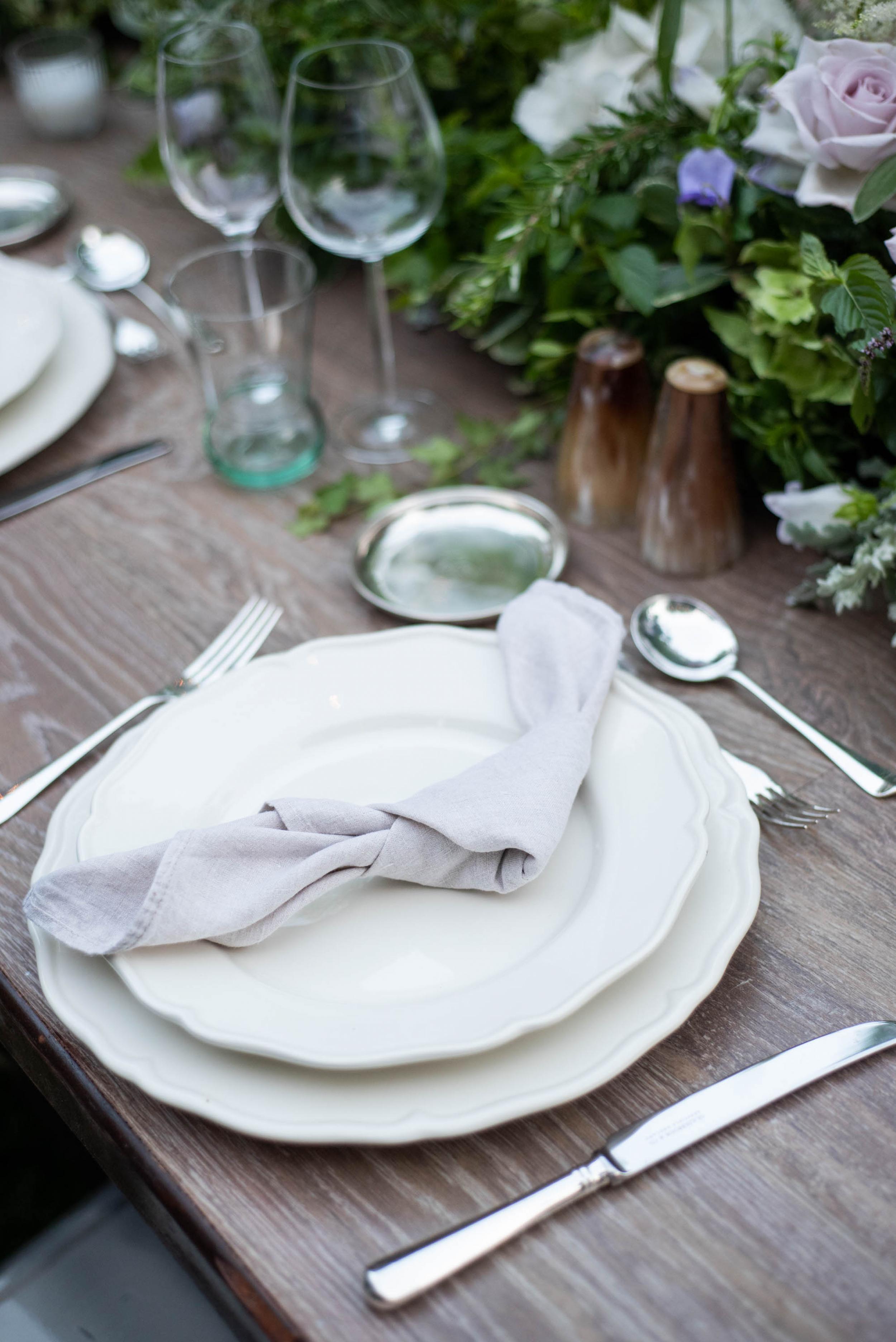 Sand colour linen napkin - Image 2