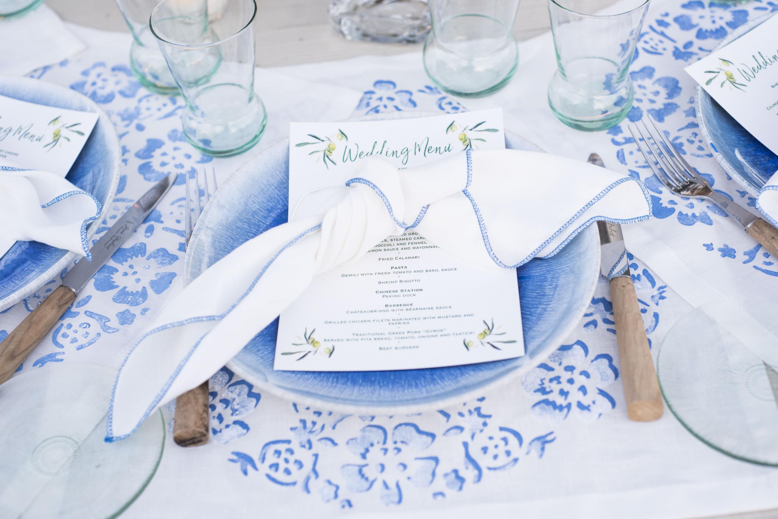 Blue plate set - Image 0