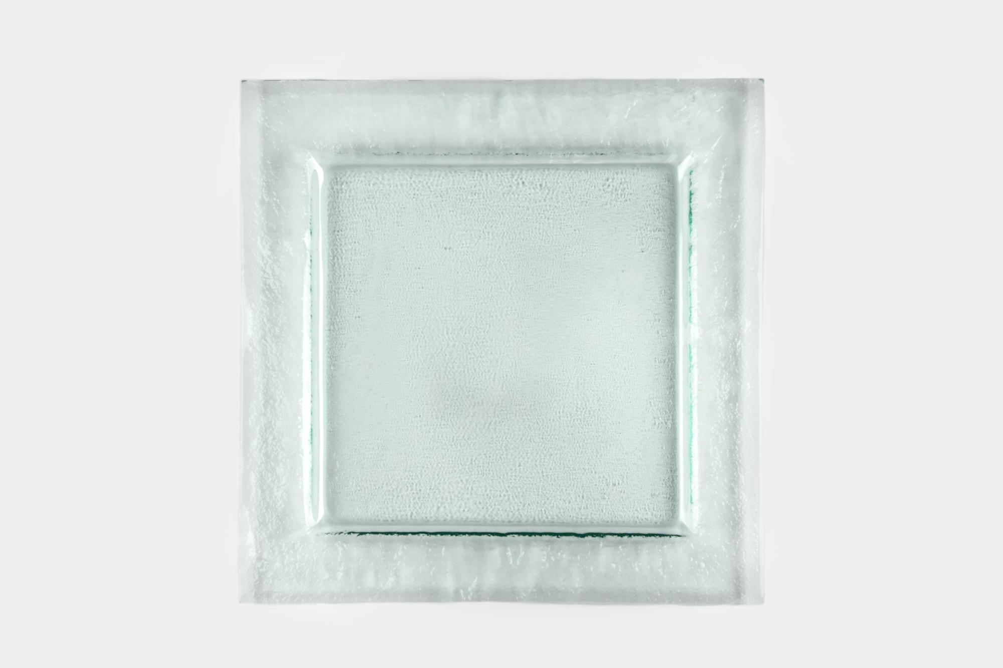 Square glass charger - Image 0
