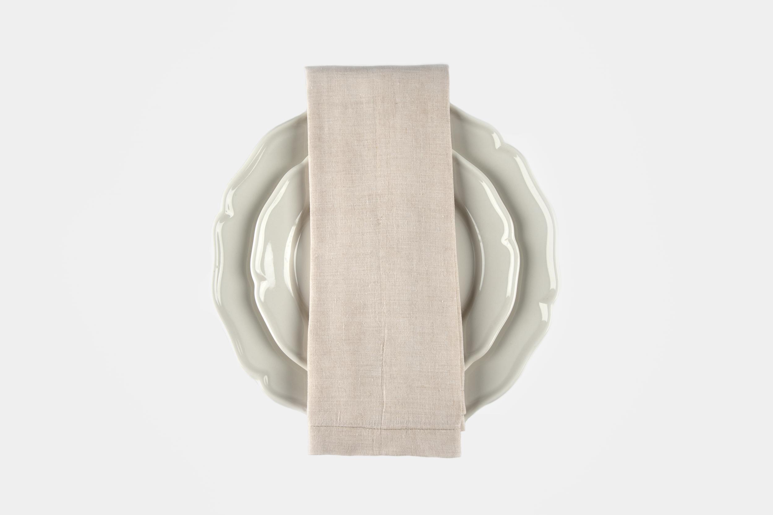 Sand colour linen napkin - Image 0